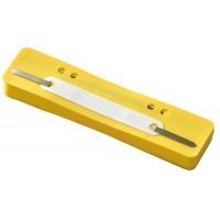 Wąsy skoroszytowe Q-CONNECT, PP, z metalową blaszką, 25szt., żółte, Wąsy, Archiwizacja dokumentów