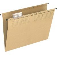Teczka zawieszkowa Q-CONNECT, karton, A4, 250gsm, jasnobrązowa, Teczki zawieszkowe, Archiwizacja dokumentów
