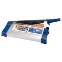 Gilotyna do papieru Q-CONNECT, A4, dł. cięcia 32cm, niebiesko-srebrna, Przycinarki i gilotyny, Urządzenia i maszyny biurowe