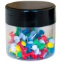 Pinezki beczułki Q-CONNECT,  w szklanym słoiku,  60szt.,  mix kolorów