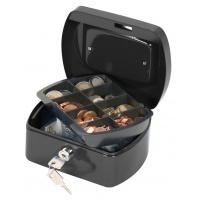 Kasetka na pieniądze Q-CONNECT, mała, 155x75x120mm, czarna, Kasetki na pieniądze, Wyposażenie biura