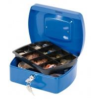 Kasetka na pieniądze Q-CONNECT, średnia, 205x85x160mm, niebieska, Kasetki na pieniądze, Wyposażenie biura