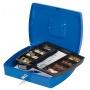 Kasetka na pieniądze Q-CONNECT, ekstra duża, 325x85x235mm, niebieska, Kasetki na pieniądze, Wyposażenie biura