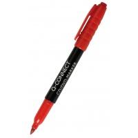 Marker do płyt CD/DVD Q-CONNECT, 1mm (linia), czerwony, Markery, Artykuły do pisania i korygowania