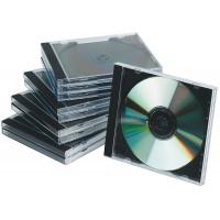 Pudełko na płytę CD/DVD Q-CONNECT, standard, 10szt., przeźroczyste, Pudełka i opakowania na CD/DVD, Akcesoria komputerowe