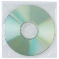 Koperty na płyty CD/DVD Q-CONNECT, 50szt., transparentny, Pudełka i opakowania na CD/DVD, Akcesoria komputerowe