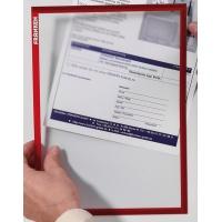 Ramka magnetyczna FRANKEN, A4, czerwona, Systemy prezentacyjne, Prezentacja
