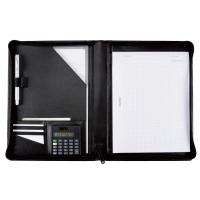 Teczka ALASSIO Catana, skóra ekologiczna, 315x260x20mm, czarna, Torby, teczki i plecaki, Akcesoria komputerowe