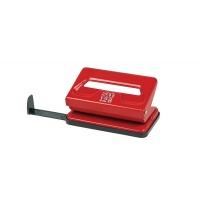 Dziurkacz SAX128S, dziurkuje do 12 kartek, czerwony, Dziurkacze, Drobne akcesoria biurowe