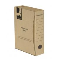Pudło archiwizacyjne Q-CONNECT, karton, A4/80mm, szare, Pudła archiwizacyjne, Archiwizacja dokumentów
