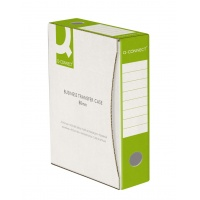 Pudło archiwizacyjne Q-CONNECT, karton, A4/80mm, zielone, Pudła archiwizacyjne, Archiwizacja dokumentów