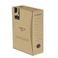 Pudło archiwizacyjne Q-CONNECT, karton, A4/100mm, szare, Pudła archiwizacyjne, Archiwizacja dokumentów
