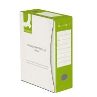 Pudło archiwizacyjne Q-CONNECT, karton, A4/100mm, zielone, Pudła archiwizacyjne, Archiwizacja dokumentów