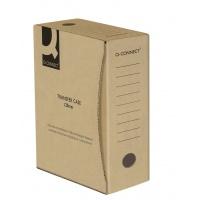 Pudło archiwizacyjne Q-CONNECT, karton, A4/120mm, szare, Pudła archiwizacyjne, Archiwizacja dokumentów