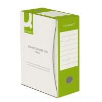 Pudło archiwizacyjne Q-CONNECT, karton, A4/120mm, zielone, Pudła archiwizacyjne, Archiwizacja dokumentów