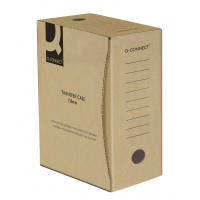 Pudło archiwizacyjne Q-CONNECT, karton, A4/150mm, szare, Pudła archiwizacyjne, Archiwizacja dokumentów