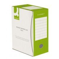 Pudło archiwizacyjne Q-CONNECT, karton, A4/150mm, zielone, Pudła archiwizacyjne, Archiwizacja dokumentów