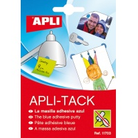 Masa mocująca APLI Apli-Tack, w bloku, 57g, niebieska, Kleje, Drobne akcesoria biurowe