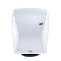Podajnik ręczników papierowych HAGLEITNER Xibu Sense Towel, optyczny, biały, Ręczniki papierowe i dozowniki, Artykuły higieniczne i dozowniki