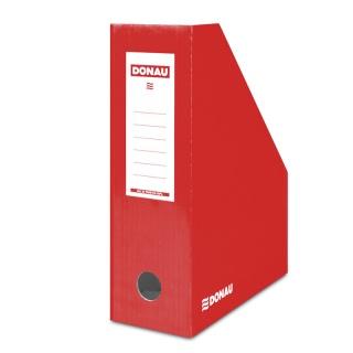Pojemnik na dokumenty DONAU, karton, A4/100mm, lakierowany, czerwony, Pojemniki na katalogi, Archiwizacja dokumentów
