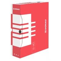 Pudło archiwizacyjne DONAU, karton, A4/80mm, czerwone, Pudła archiwizacyjne, Archiwizacja dokumentów