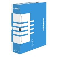 Pudło archiwizacyjne DONAU, karton, A4/80mm, niebieskie, Pudła archiwizacyjne, Archiwizacja dokumentów