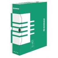 Pudło archiwizacyjne DONAU, karton, A4/80mm, zielone, Pudła archiwizacyjne, Archiwizacja dokumentów
