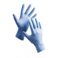 Rękawice Barbary, jednorazowe, nitryl pudr., rozm. 8, niebieskie, 100szt., Rękawice, Ochrona indywidualna