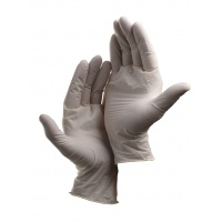 Rękawice Loon, jednorazowe, lateks pudr., rozm. 8, biały, 100szt., Rękawice, Ochrona indywidualna