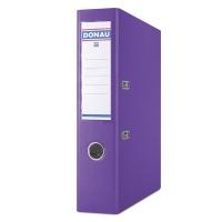 Segregator DONAU Premium, PP, A4/75mm, fioletowy, Segregatory polipropylenowe, Archiwizacja dokumentów