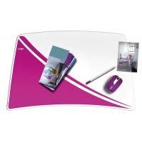 Podkładka na biurko CEPPro Gloss, różowa, Podkładki na biurko, Wyposażenie biura