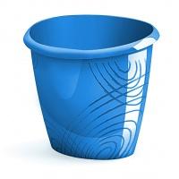 Kosz na śmieci CEP Origins, niebieski, Kosze plastik, Wyposażenie biura