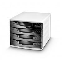 Zestaw 4 szufladek CEP Origins, czarny, Szufladki - zestawy, Drobne akcesoria biurowe