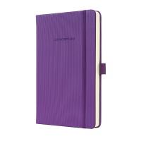 Notatnik SIGEL Conceptum® okładka w prążki, A5, w kratkę, fioletowy, Notatniki, Zeszyty i bloki