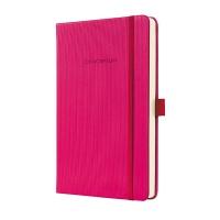 Notatnik SIGEL Conceptum® okładka w prążki, A5, w kratkę, różowy, Notatniki, Zeszyty i bloki