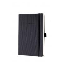 Notatnik SIGEL Conceptum®, okładka w prążki, A5, w kratkę, czarny, Notatniki, Zeszyty i bloki