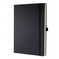 Notatnik SIGEL Conceptum®, okładka w prążki, A4, gładki, czarny, Notatniki, Zeszyty i bloki