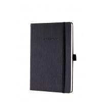 Notatnik SIGEL Conceptum®, okładka w prążki, A5, gładki, czarny, Notatniki, Zeszyty i bloki