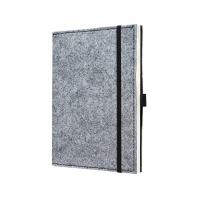 Notatnik SIGEL Conceptum® okładka filc, A5, w linie, szary, Notatniki, Zeszyty i bloki