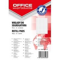 Wkład do segregatora OFFICE PRODUCTS, A5, w kratkę, 100 kart., mix kolorów, Wkłady do segregatora, Papier i etykiety