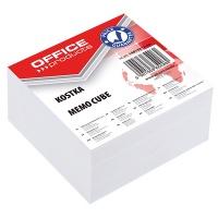 Kostka OFFICE PRODUCTS nieklejona, 85x85x40mm, biała, Kostki, Papier i etykiety