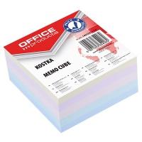 Kostka OFFICE PRODUCTS klejona, 85x85x40mm, mix kolorów, Kostki, Papier i etykiety
