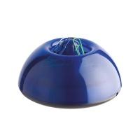 Pojemnik magn. na spinacze ICO Lux, transparentny niebieski, Przyborniki na biurko, Drobne akcesoria biurowe