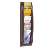 Zestaw naścienny PAPERFLOW, 5 półek, 1/3 A4, czarny, Półki, Drobne akcesoria biurowe