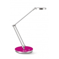 Lampka na biurko CEP CLED-400, 7, 5W, ze ściemniaczem, srebrno-różowa, Lampki, Urządzenia i maszyny biurowe