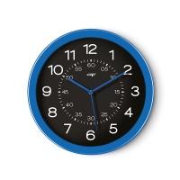 Zegar ścienny Pro Gloss 30cm niebieski, Zegary, Wyposażenie biura