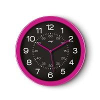 Zegar ścienny CEP Pro Gloss, 30cm, różowy, Zegary, Wyposażenie biura