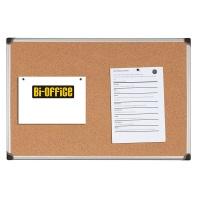 Tablica korkowa BI-OFFICE, 90x60cm, rama aluminiowa, Tablice korkowe, Prezentacja