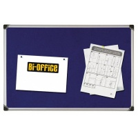 Tablica filcowa BI-OFFICE, 60x90cm, niebieska, Tablice filcowe, Prezentacja