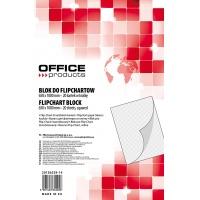Blok do flipchartów OFFICE PRODUCTS, kratka, 65x100cm, 20 kart., biały, Bloki, magnesy, gąbki, spraye do tablic, Prezentacja